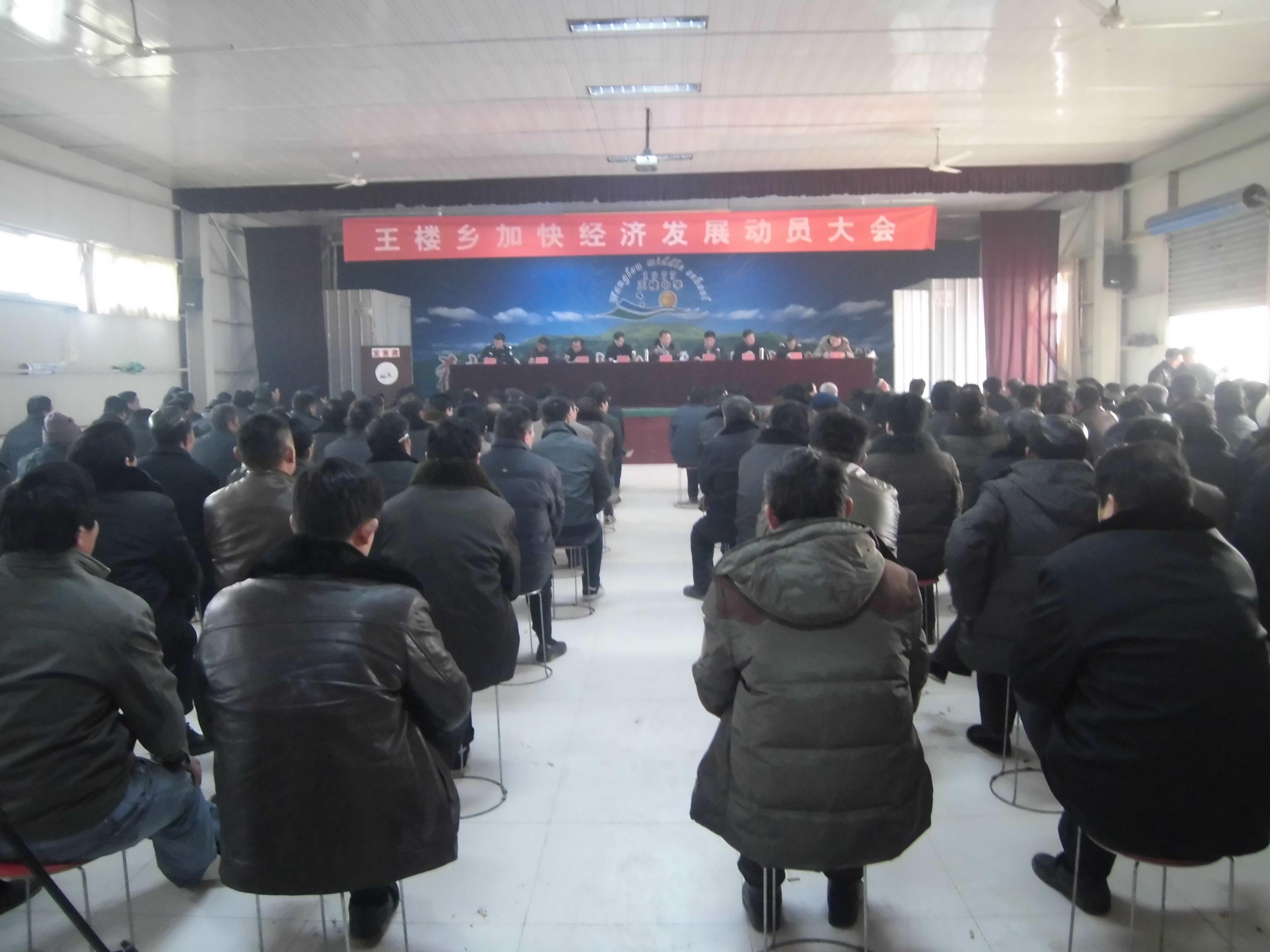 王楼乡召开加快经济发展动员大会